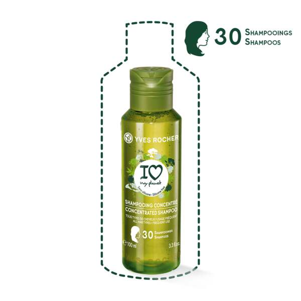 Geconcentreerde shampoo I Love My Planet