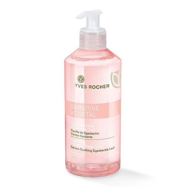 Kalmerende micellaire reinigingslotion 2-in-1 390 ml, Sensitive Végétal, Reiniging en lotion, Gezichtsverzorging, Yves Rocher