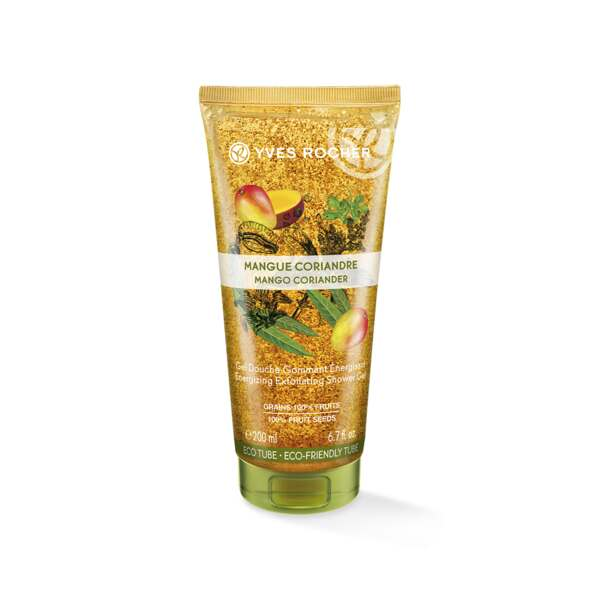 Peelende Douchegel Mango & Koriander, Yves Rocher, Eco-tube 200 ml