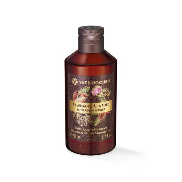 Hamam bad- en douchegel met Argan en Roos - 200 ml